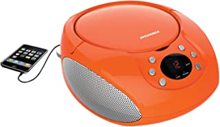 Sylvania Portable Cd Player & AM/FM Radio Tuner Mega Bass Reflex Boombox Sound System Plus 6ft Aux Cable to Connect Any iP...