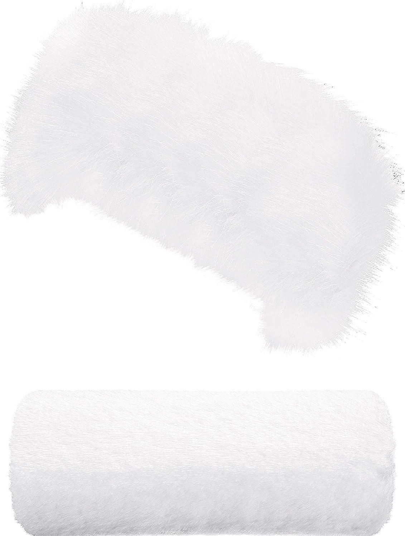 Faux Nashville-Davidson Mall Daily bargain sale Fur Headband Hand Muff Set Head Furry Wrap Warme Wrist