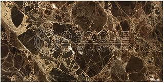 Emperador Dark Spanish Marble 6 X 12 Subway Field Tile, Polished
