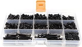 iExcell 550 Pcs Metric M3 12.9 Grade Alloy Steel Hex Socket Head Cap Screws and Nuts Assortment Kit, Black Oxide Finish