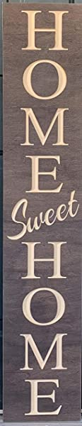 Paint Me Designs Wooden Welcome Sign Home Sweet Home Vertical Stained