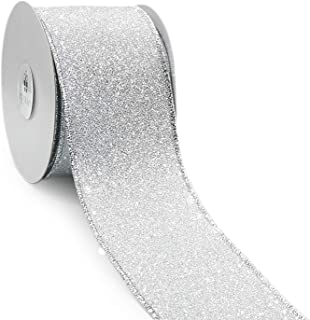 silver glitter ribbon wholesale