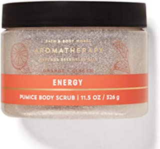 Bath & Body Works Aromatherapy Energy Orange Ginger Pumice Body Scrub with Natural Essential Oils, Aloe and Vitamin E 11.5...