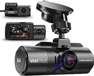 VANTRUE N4 3 Lens Dashcam 1440P + Dual 1080P Camera Auto, 4K 3840x 2160P voor, infrarood cut nachtzicht, 24/7 parkeermodu...