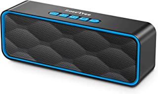 ZoeeTree Bluetooth スピーカー ワイヤレススピーカー FMラジオ対応 Bluetooth5.0 12時間連続再生 高音質 大音量 TWS対応 内蔵マイク AUX接続 microSDカー 小型 USB充電式