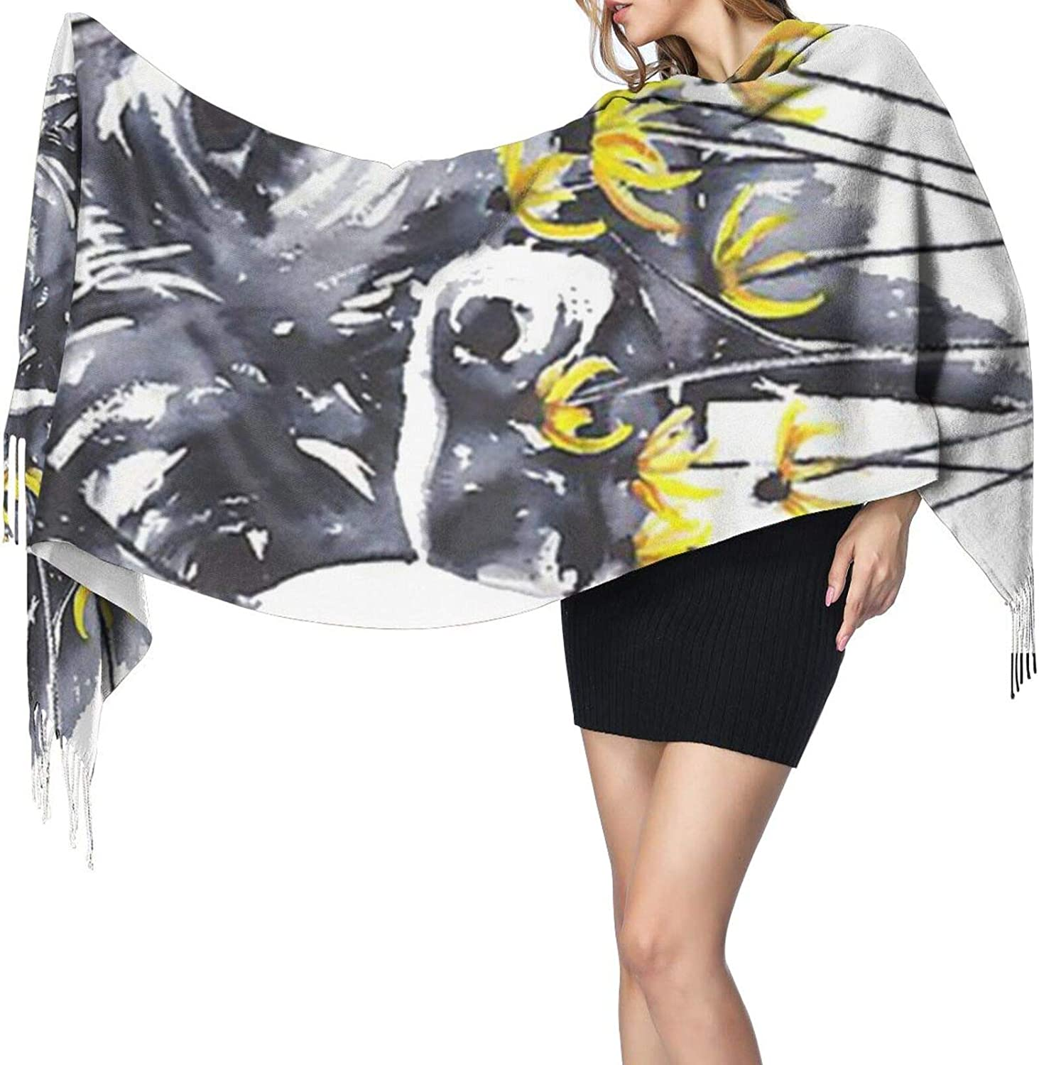 Abstract Orange Tropical Leaves Ladies Winter Warm Scarf Shawl Wrapped Cashmere Scarf