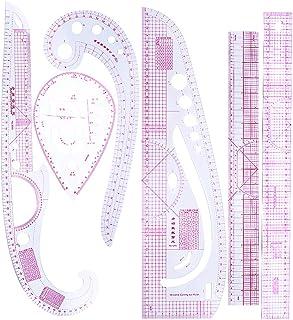 FLAMEER 6ピース 裁縫用 定規 ルーラー メジャー セット 洋裁 多機能 ストレート 曲線 手芸 DIY 6様式