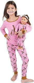 Leveret - Pijamas para niños e infantes, juego de pijamas para muñecas y niñas, 100% algodón, 2 piezas (Talla 2 para infan...