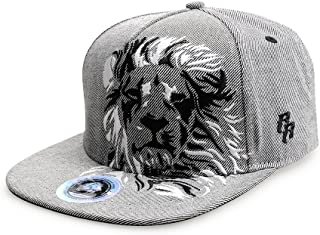 RIOREX Hip hop caps Fashion Animal Embroidery Baseball Cap for Men Adjustable Leather Belt Strapback Baseball Cap