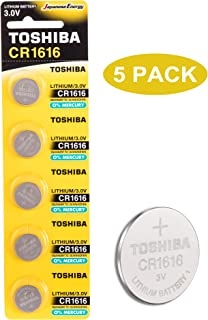 Toshiba CR1616 3V Lithium Coin Cell Battery Pack of 5