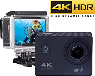 ★ LA MAS VENDIDA ★ Action Camera WIFI 4K - Full HD 16MP Cámara Deportiva 4k Wifi Ultra HD Resistente al agua Wi-Fi 16MP Full HD 1080p Sensor SONY impermeable hasta 30m 2.0 Ángulo de Visión 170