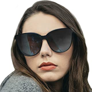 4483ad5efe LVIOE Cat Eyes Sunglasses for Women, Polarized Oversized Fashion Vintage  Eyewear for Driving Fishing -