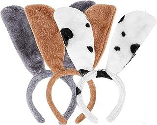3Pcs Animal Ears Headband Floppy Puppy Dog Ear Hairband Animal Hair Hoop Pug Pooch Ears Headwear Women Girls Headpiece Hair Accessory for Holiday Easter Party Halloween Xmas Festival Decorations
