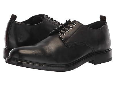 Frye Murray Oxford (Black Washed Dip-Dye Leather) Men