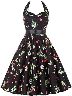 Cheryl Bull Trendy Summer Retro 1950s 60s Vintage Dress s Pinup Rockabilly Big Size Sexy Halter Short s