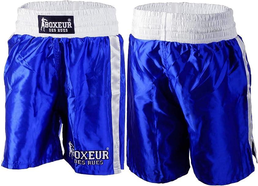 Man Black Boxing Shorts with Side Bands BOXEUR DES RUES