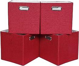 Optiaml Grass Storage Bins Folding Baskets (Gray)