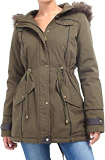 CHOCOLATE PICKLE New Ladies Brave Soul Oversized Fur Hooded Fishtail Military Parka Jacket Winter Coat 8-24