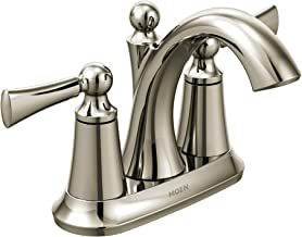 Moen 4505NL Wynford Two-Handle Centerset High Arc Bathroom Faucet, Polished Nickel