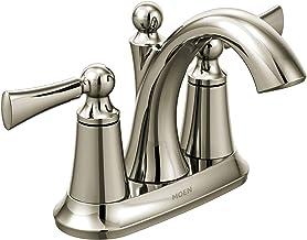 Moen 4505NL Wynford Two-Handle Centerset High Arc Bathroom Faucet, Polished Nickel
