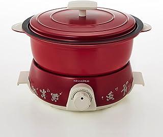[ベルメゾン] ディズニー 煮る・炊く・蒸す・揚げる・焼くができる5WAY卓上調理器 ポットデュオフェット レッド