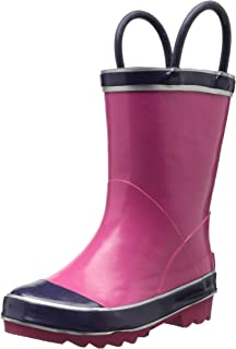 Northside Girls' Classic Rain Boot Pink/Purple, 5 Medium US Toddler