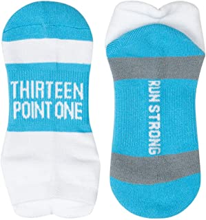 Inspirational Athletic Running Socks | Women's Woven Low Cut | Inspirational Slogans | Over 25 Styles