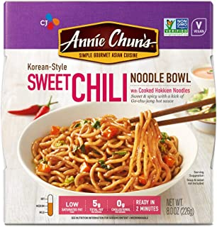 Annie Chun's Sweet Chili Noodle Bowl, Non-GMO, Vegan, 8-oz (Pack of 6),..
