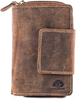 Greenburry Cartera vintage XI de piel, 10 cm