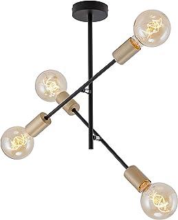 Briloner Leuchten – Lámpara de techo con 4 focos en diseño retro y vintage, casquillo
