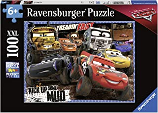Ravensburger 12845 Disney Cars Mudders - 100 Piece Jigsaw Puzzle for Kids – Every Piece is Unique, Pieces Fit Together Perfectly