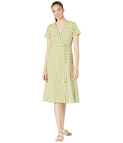 Madewell Button-Wrap Midi Dress in Gingham Check