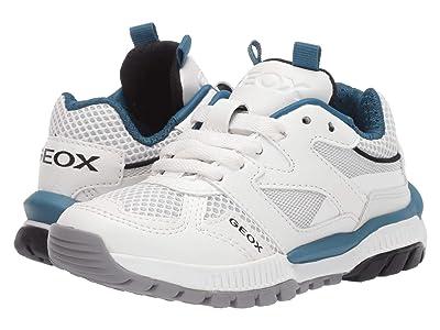 Geox Kids Tuono 2 (Little Kid) (White/Blue) Boy