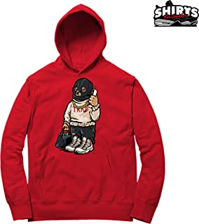 71791f94b52 Platinum Tint 11 Trap Bear Hoodie to Match Jordan 11 Platinum Tint Sneakers  Red t-