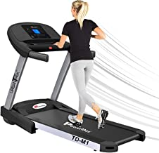 PowerMax Fitness Unisex Adult TD-M1 Urbantrek (4.0 Hp) Plug And Run Treadmill With Android & Ios App - Black/Grey, Modern-...