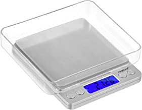 Proster 500g/0.01g Digital Food Scale Portable Kitchen Cooking Scale Backlit LCD Food Weighing Scale with 2 Trays 6 Units Tare Function Pocket Electronic Scale