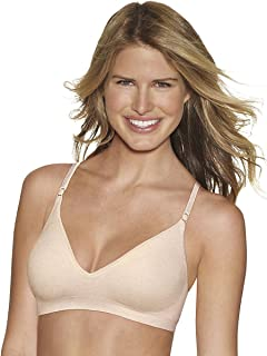 f579befcf0 Hanes womens Comfy Support ComfortFlex Fit Wirefree Bra(G795)-Nude Heather-M
