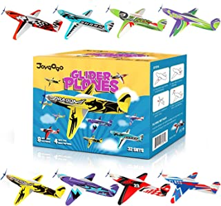 "Joygogo 32 Pack Glider Planes,8"" Long Flying Glider Plane,8 Different Designs,Easy Assembly,Durable Quality-Kids Party Fav..."