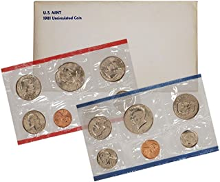 1981 Various Mint Marks United States Mint Uncirculated Coin Set in Original Government Packaging Uncirculated