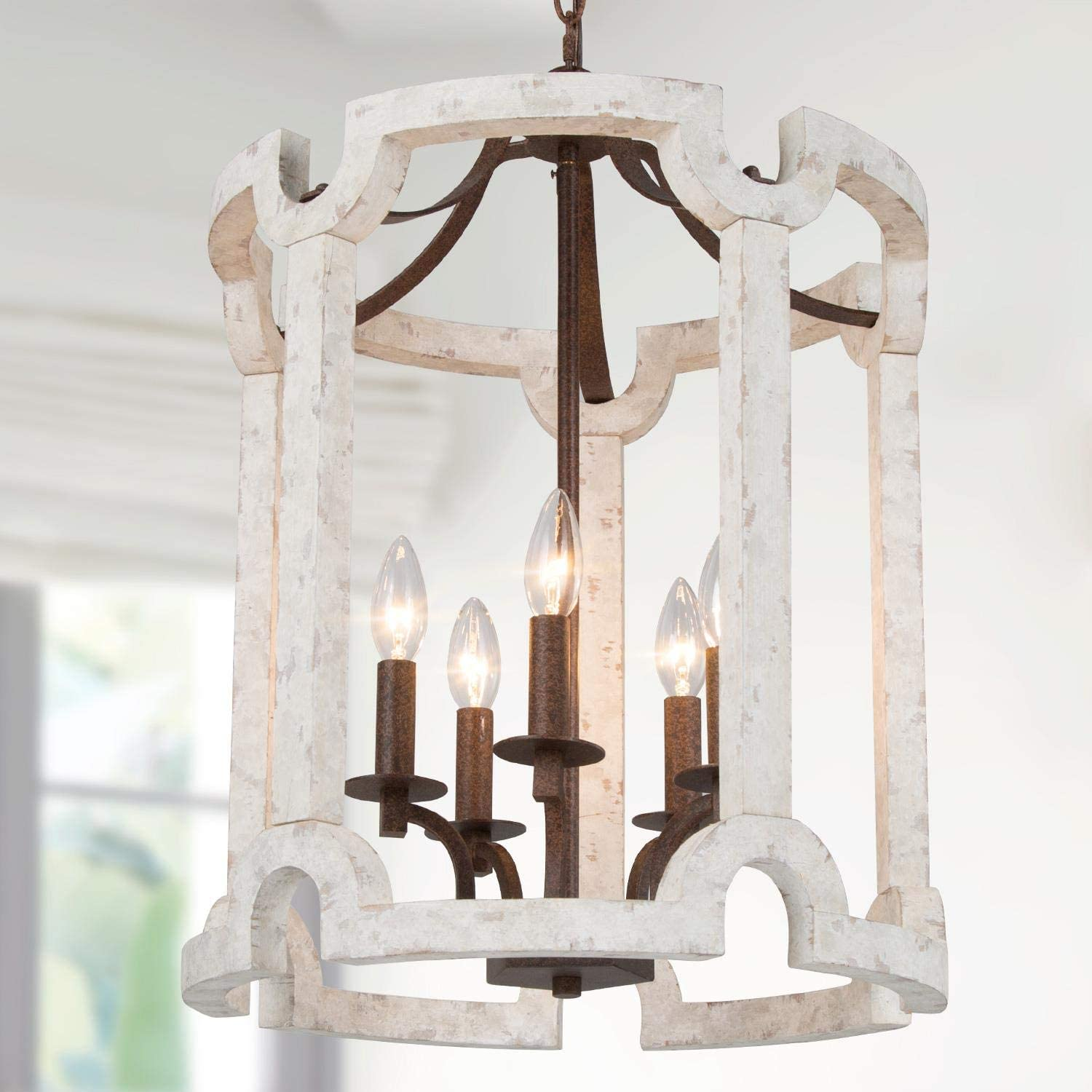 Surprise price LNC Farmhouse Chandelier for Wood Room Dining Ki 70% OFF Outlet