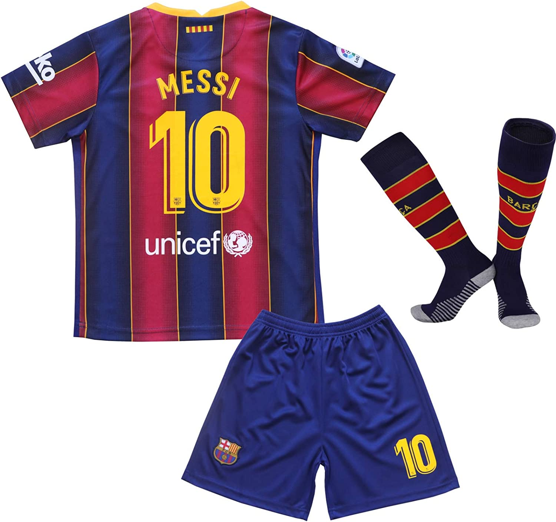 FC Barcelona Messi #10 Pants Dark Blue Neon Green