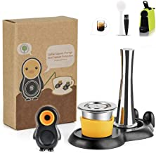 i Cafilas Reusable Coffee Capsules Stainless steel Tamper with Coffee Pod holder Set,Refillable Crema Capsules With Reusba...