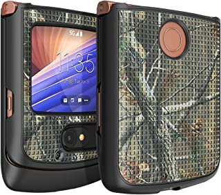 Case for Motorola RAZR 5G Flip Phone, Nakedcellphone [Outdoor Camouflage] Tree Leaf Real Woods Camo Protective Hard Shell ...