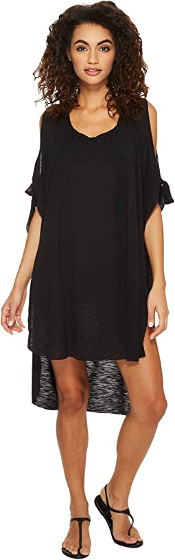 Breezy Basics Cold Shoulder Poncho Cover-Up