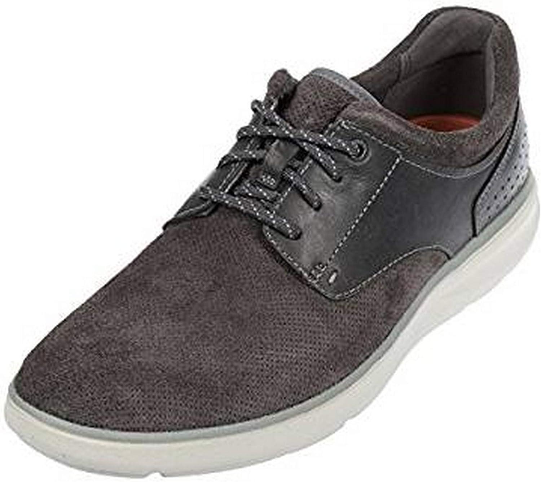 Rockport Mens Zaden bluecher shoes in Brown- Lace Fastening- Memory Foam Insole-