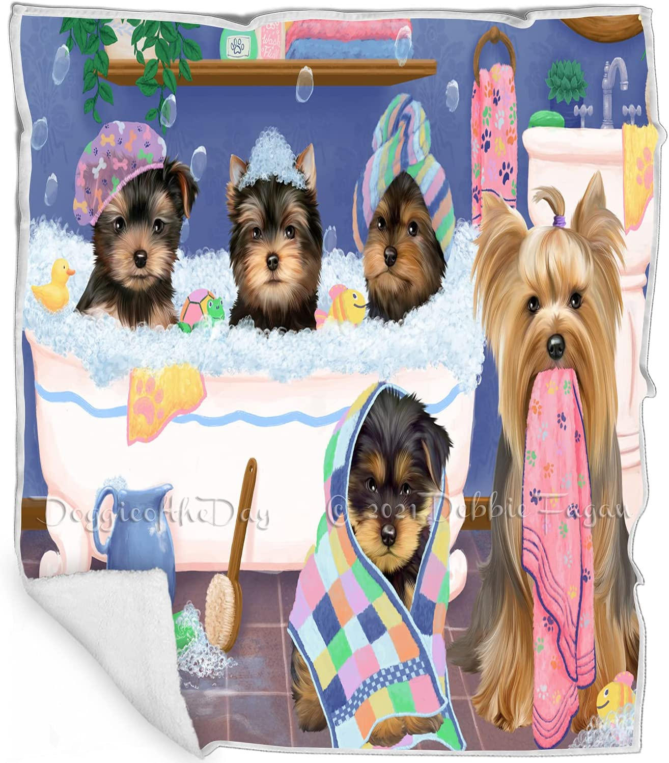 Rub A Dub Dogs in Tub - Yorkshire Ranking TOP16 Multico Special sale item Blanket Terrier