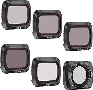 ND Filters Set for DJI Mavic Air 2 Accessories,Mavic Air 2 Camera Lens Filter Set,6 Pack-(CPL, UV, ND8, ND16, ND32, ND64)