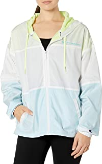 Champion Womens J5688 Stadium Colorblocked Windbreaker Windbreaker