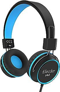 Elecder i42 Kids Headphones, Safe Volume Limited 85dB, Foldable Adjustable On Ear Headphones, 3.5mm Jack Compatible with i...