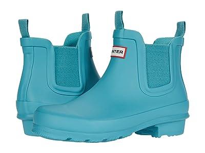 Hunter Kids Original Chelsea (Little Kid/Big Kid) (Blue Spruce 1) Kids Shoes